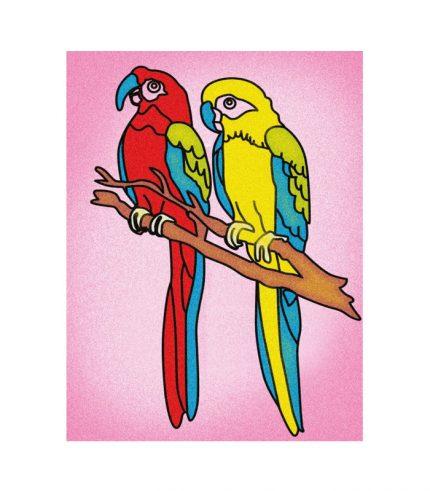 Papağanlar Kum Boyama Kum Boyama Lisanslimarka