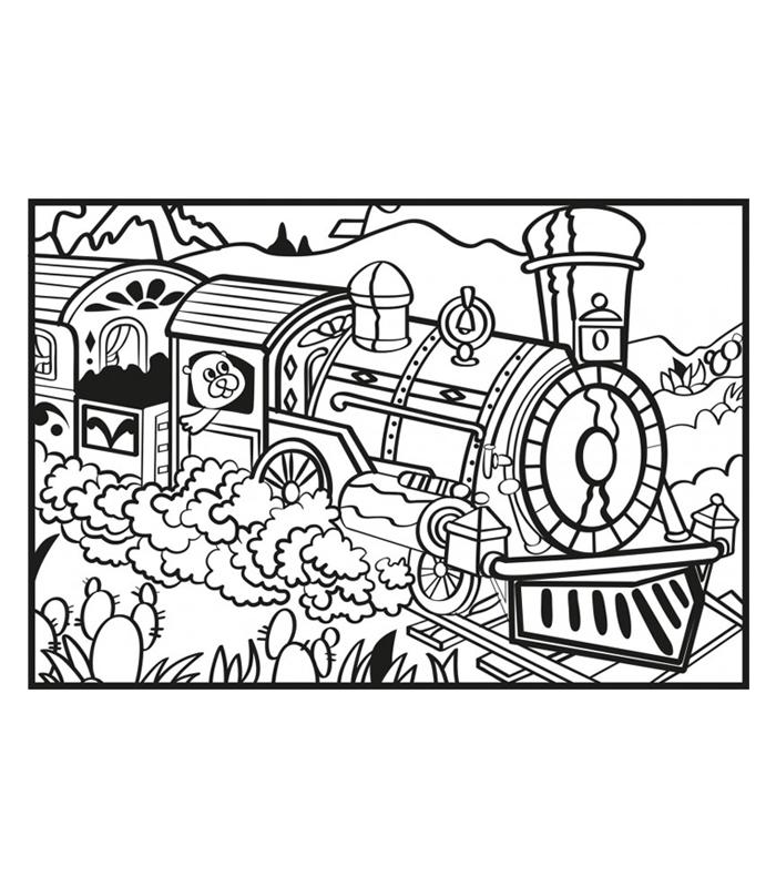 Tren Kadife Boyama Sanatı Kadife Boyama Lisanslimarka