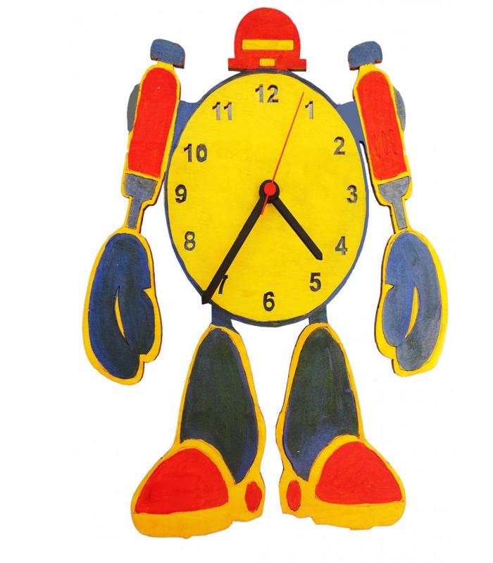 Robot Ahşap Saat Boyama